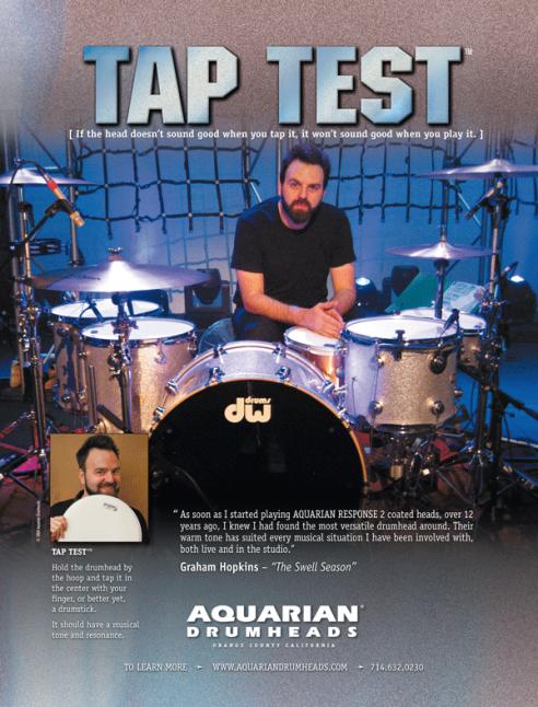 Tap Test, Aquarian Drumheads