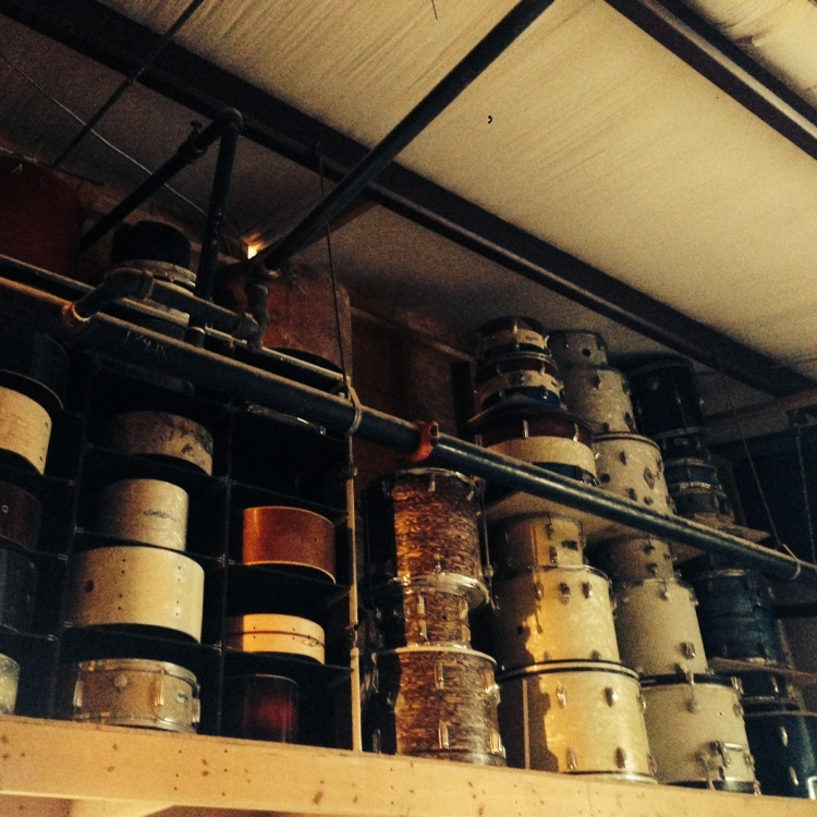 C&C leave vintage inspiration on the wall. WFL, Ludwig, Slingerland, Rogers & more